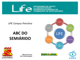 ABC DO SEMIÁRIDO