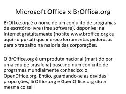 Diferenças entre os aplicativos de escritório office