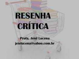 RESENHA CRÍTICA - Faculdade Santo Agostinho