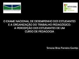 O EXAME NACIONAL DE DESEMPENHO DOS