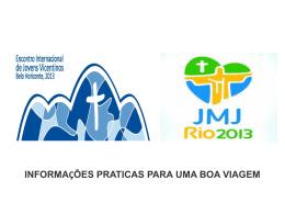 Informações importantes para JMJ