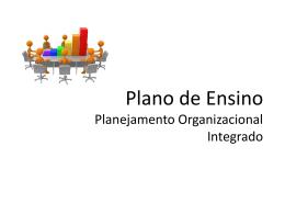 Aula 1 - Planejamento Organizacional Integrado