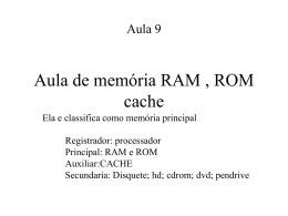 Memoria Ram Rom Cache