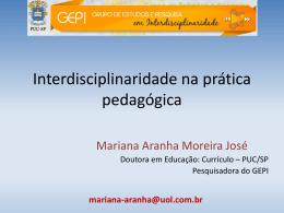 Interdisciplinaridade: perspectivas e desafios para a