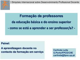 Painel_2_Carlinda_Leite - I Simpósio Internacional Sobre