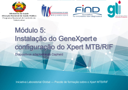 Pacote de formação sobre o Xpert MTB/RIF