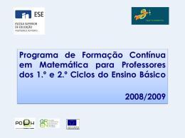 PFCM08 - Viajar na Matemática