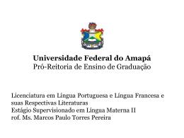 Estágio Supervisionado em Língua Materna II. Apres. 3