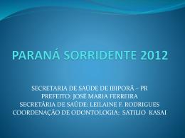 da apresentação - Conselho Regional de Odontologia do