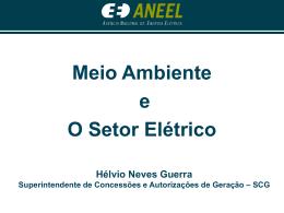 Meio Ambiente e o Setor Elétrico - Superintendente de
