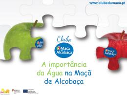 Água - Clube da Maçã de Alcobaça