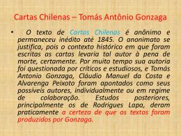 Cartas Chilenas * Tomás Antônio Gonzaga