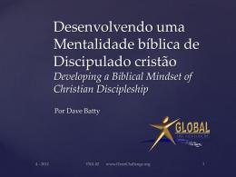 Desenvolvendo uma Mentalidade bíblica de Discipulado cristão