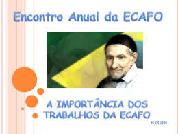 Encontro Anual da ECAFO