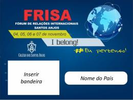Slides_FRISA - Colégio dos Santos Anjos