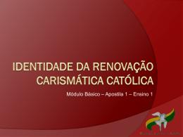 Identidade da renovação carismática católica