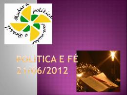 POLITICA E FÉ