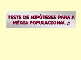 MAE116 Aula 11 - Teste de Hipoteses III - IME-USP