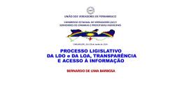 Processo Legislativo - LDO - LOA