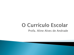 O Currículo Escolar