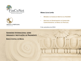 FinCoNet (PPTX - 7136KB) - Banco Central do Brasil