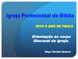 servir às mesas - Igreja Pentecostal da Bíblia
