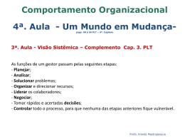 Comportamento Organizacional 4ª. Aula