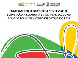 Principais pontos da agenda Copa do Mundo 2014