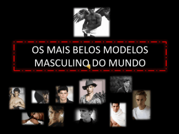 os mais belos modelos masculino do mundo