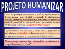 do Projeto Humanizar