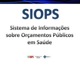 Como acessar os dados do SIOPS?
