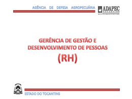 Slide 1 - Governo do Estado do Tocantins