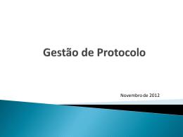 Gestão de protocolo