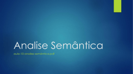 Analise Semântica
