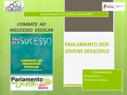Parlamento – 2014-2015 - Agrupamento de Escolas de Gavião