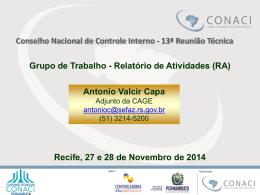 Antônio Valcir Capa – Grupo de Trabalho