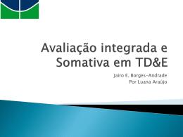 APRES_Araújo_Avaliação integrada e somativa em TDE
