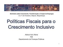 Políticas de despesas para o crescimento inclusivo