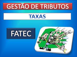 TAXAS - Comex FATEC