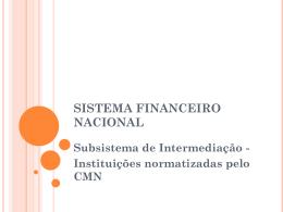 Instituições Financeiras Não Bancárias Bancos de