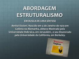 ESTRUTURALISMO E COMPORTAMENTAL