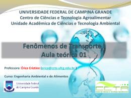 mecânica dos fluidos - Universidade Federal de Campina Grande