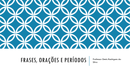 Frases, Orações e Períodos – 01