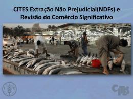 CITES Extração Não Prejudicial(NDFs)