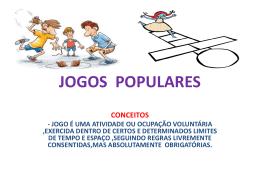 JOGOS POPULARES - Colégio Salesiano Recife