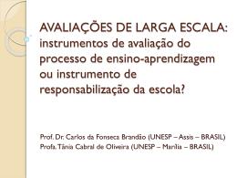 AVALIAÇÕES DE LARGA ESCALA: instrumentos de avaliação do