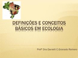 Slides Introdução à Ecologia