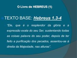 O Livro de HEBREUS (1)