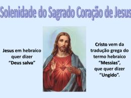 Olá, a paz de Jesus! - Mensagens em Power Point