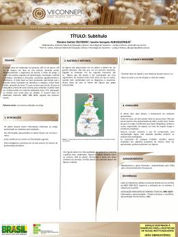 Modelo de Banner - Instituto Federal do Tocantins